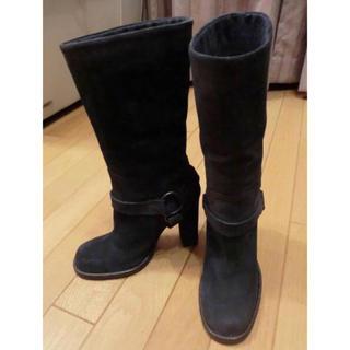 ブルネロクチネリ(BRUNELLO CUCINELLI)の未使用!ブルネロクチネリcucinelli スエードブーツ 36.5(ブーツ)