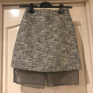 ルシェルブルー(LE CIEL BLEU)のLE CIEL BLEU*サマーツイード 膝上スカート(ミニスカート)