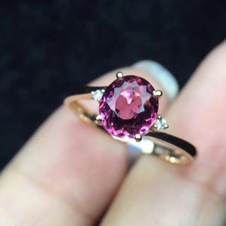 1.5ct 天然 トルマリン  リング 天然ダイヤモンド付き(リング(指輪))