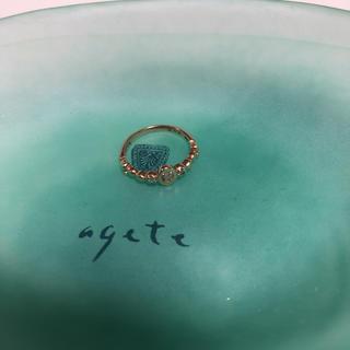 アガット(agete)のagete ピンキーリング オパール ダイヤ(リング(指輪))