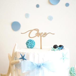 フランフラン(Francfranc)のケーキトッパー one 1歳 誕生日 飾り(その他)