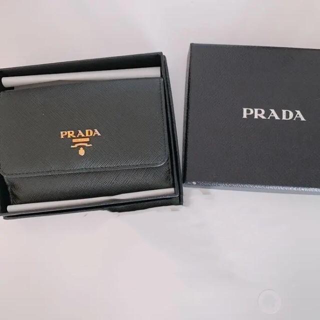 PRADA - *⑅♥︎PRADA サフィアーノ バイカラー 二つ折り財布*⑅♥︎の通販 by うみ|プラダならラクマ