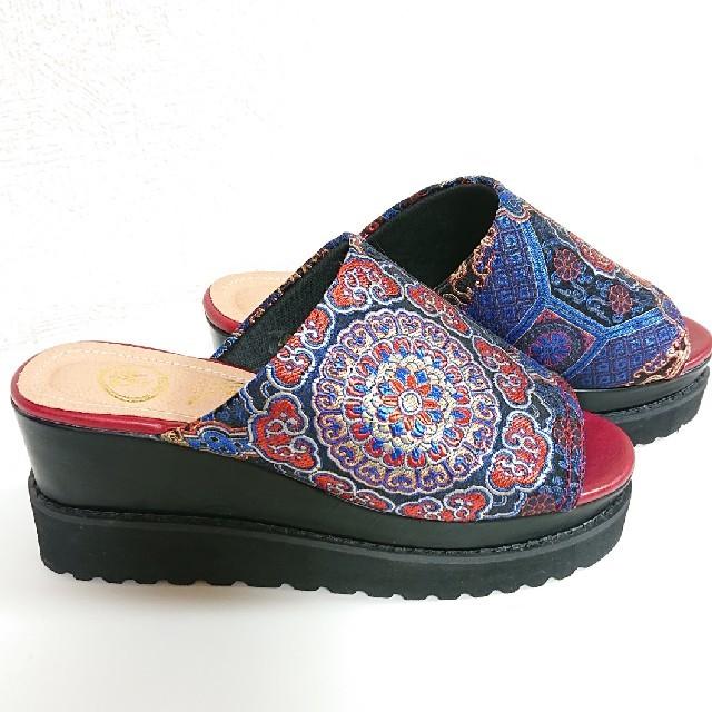 YOSUKE(ヨースケ)のYOSUKE サボ 厚底サンダル レディースの靴/シューズ(サンダル)の商品写真