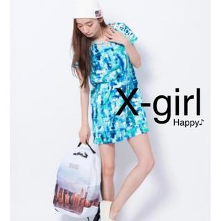 エックスガール(X-girl)のX-girl エックスガール ★ 新品 ★ カットワンピース Sサイズ 完売(ひざ丈ワンピース)