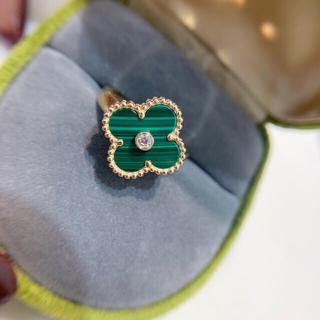 マラカイト ダイヤモンド リング K18(リング(指輪))