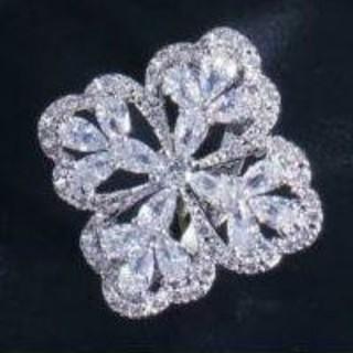 18KWGP  AAAcz diamond color  マーキースカットリング(リング(指輪))