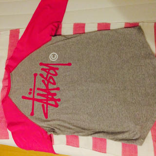 ステューシー(STUSSY)の正規品♡ピンクラグラン♡STUSSY(Tシャツ/カットソー(七分/長袖))
