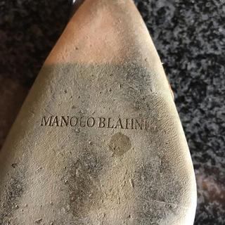 マノロブラニク(MANOLO BLAHNIK)のManolo Blahnik ローヒール画像 確認用(ハイヒール/パンプス)