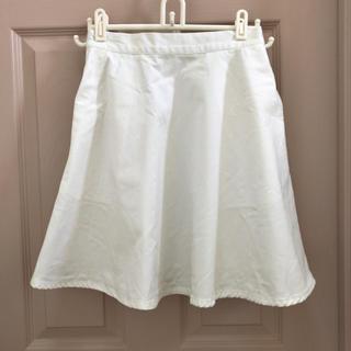 ウィゴー(WEGO)の【WEGO】ホワイトデニムスカート(ひざ丈スカート)