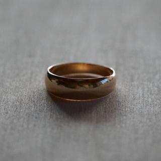 【専用です】K18 ゴールドリング & ポーチ(リング(指輪))