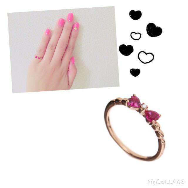 Samantha Tiara(サマンサティアラ)のサマンサティアラ♡リボンPinky♡ レディースのアクセサリー(リング(指輪))の商品写真