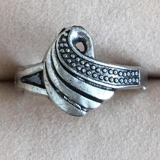 (76)翼のような曲線モチーフリング シルバー ヴィンテージ(リング(指輪))