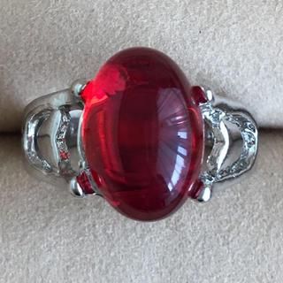 (79)プルっとしたルビーカラーのリング シルバー ヴィンテージ(リング(指輪))