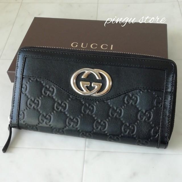 Gucci - 【美品 正規品】グッチ ラウンドファスナー 長財布の通販 by ピングー☆'s shop|グッチならラクマ
