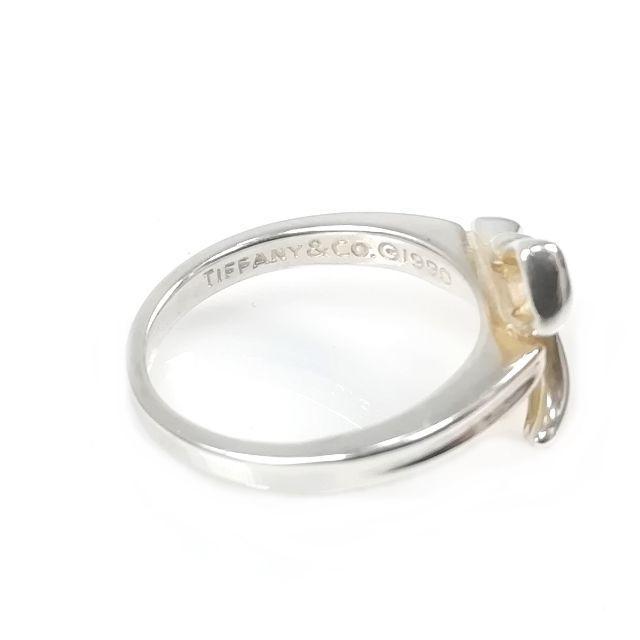 reputable site d7bff e9f46 美品 ティファニー シルバー リボン リング 指輪 11号 YL19