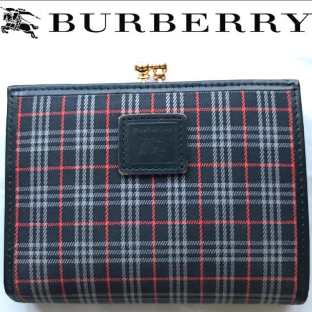 BURBERRY - レア!Burberrys バーバリー ノバチェック  ロゴマーク がま口財布の通販 by アンド  ミックス|バーバリーならラクマ