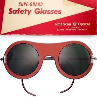 未使用 極美品 50s アメリカンオプティカル USA ビンテージ 丸サングラス(サングラス/メガネ)