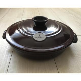 エミールアンリ(EmileHenry)のEmile Henry 浅鍋 25cm パープル 未使用(鍋/フライパン)