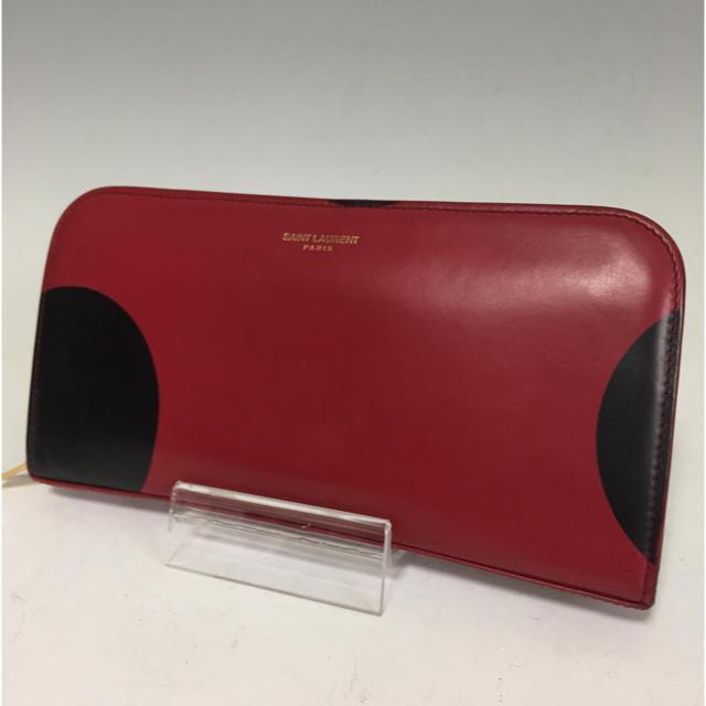 MIUMIUバックパック コピー 、 Saint Laurent - サンローランパリ YSL ポルカドット 長財布 赤×黒 ラウンドファスナーの通販 by プロフ必読お願いします。|サンローランならラクマ