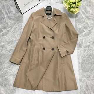 フォクシー(FOXEY)の美品 定価16万円 フォクシー FOXEY 最高級シルク 刺繍 コート(ロングコート)