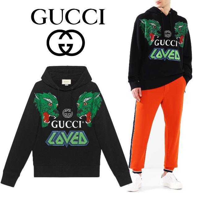 Gucci(グッチ)の【1】GUCCI 19ss タイガー コットン スウェットシャツ パーカーL メンズのトップス(パーカー)の商品写真