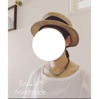 ミナペルホネン(mina perhonen)のハンドメイド グリーンアベンチュリンのネックレス(ネックレス)