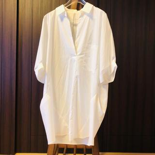 PAPILLONNER - 試着のみ✨PAPILL ONNER パピヨネ 白ブラウス ロングシャツ 38 M