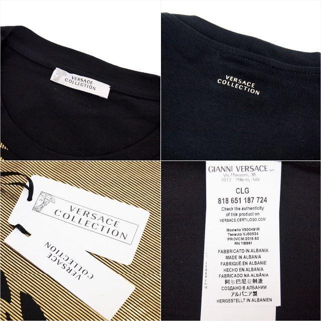 VERSACE(ヴェルサーチ)の【1】VERSACE COLLECTIONブラック×ゴールドロンT XL メンズのトップス(Tシャツ/カットソー(七分/長袖))の商品写真