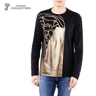 ヴェルサーチ(VERSACE)の【1】VERSACE COLLECTIONブラック×ゴールドロンT XL(Tシャツ/カットソー(七分/長袖))