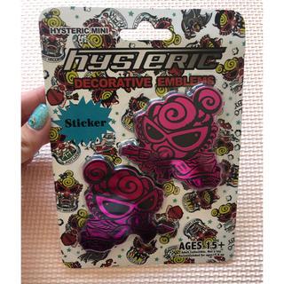 ヒステリックミニ(HYSTERIC MINI)の【新品・未使用】ヒスミニ エンブレムステッカー(車外アクセサリ)