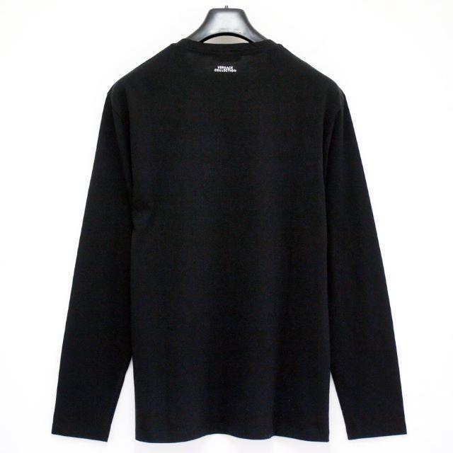 VERSACE(ヴェルサーチ)の【2】VERSACE COLLECTIONブラック×シルバーロンT M メンズのトップス(Tシャツ/カットソー(七分/長袖))の商品写真