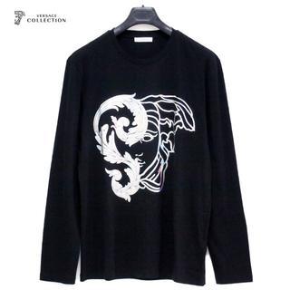 ヴェルサーチ(VERSACE)の【2】VERSACE COLLECTIONブラック×シルバーロンT M(Tシャツ/カットソー(七分/長袖))