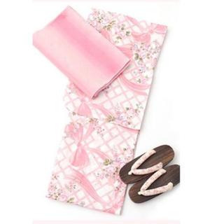 メゾンドフルール(Maison de FLEUR)の新品未開封 メゾンドフルール 浴衣 リボン ピンク 2018(浴衣)