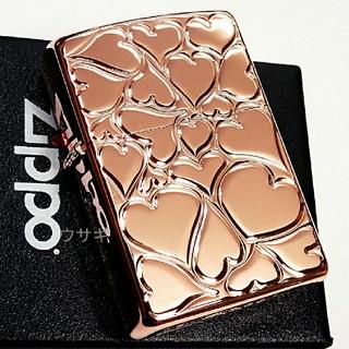 ジッポー(ZIPPO)の送料無料☆zippo☆ラブリーハート☆Rose pink☆ジッポ(タバコグッズ)