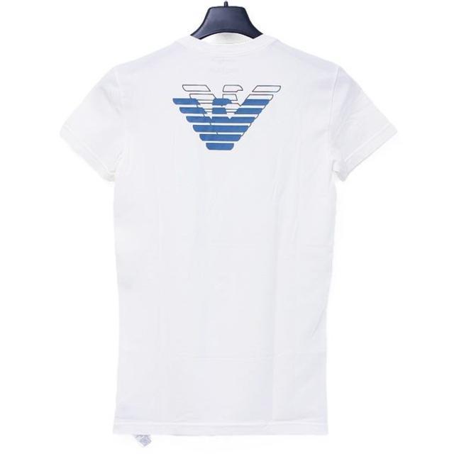 Emporio Armani(エンポリオアルマーニ)の【33】EMPORIO ARMANI ホワイト 半袖 TシャツS メンズのトップス(Tシャツ/カットソー(半袖/袖なし))の商品写真