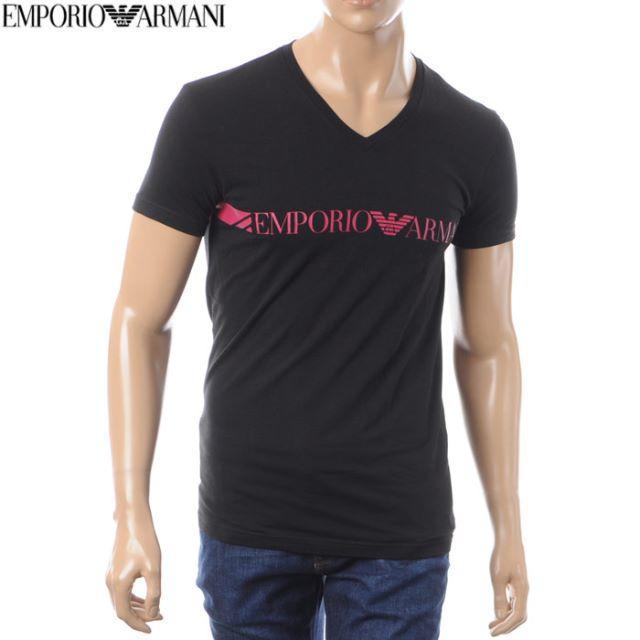Emporio Armani(エンポリオアルマーニ)の【36】EMPORIO ARMANI ブラック 半袖 Tシャツ size XL メンズのトップス(Tシャツ/カットソー(半袖/袖なし))の商品写真