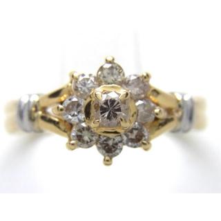 最終価格 お値段不可 K18/PT900 合計0.50ct 天然ダイヤリング(リング(指輪))