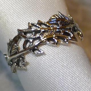 SR1794 指輪シルバー925リング 18号 唐草 透かし彫り 送料無料(リング(指輪))