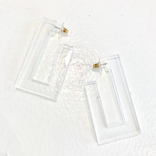 スライ(SLY)の新品 クリアフープピアス 透明スクエアピアス no.124(ピアス)