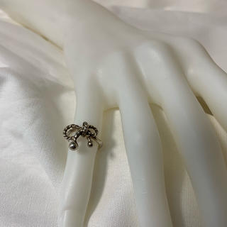 ●A75 used silver ribbon ring(リング(指輪))