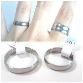 シンプルシルバーリング 4mm幅 単品(リング(指輪))