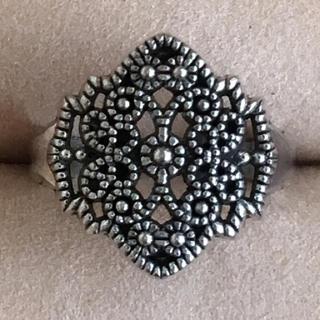 売約済み(80)アラベスクのような模様のリング シルバー ヴィンテージ(リング(指輪))