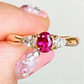 ポーラ(POLA)の美品❗️ 上質 POLA ポーラ k18 ルビー ダイヤリング(リング(指輪))
