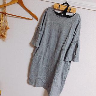 ジーユー(GU)のゆるっとワンピース♡ロングTシャツ(ミニワンピース)