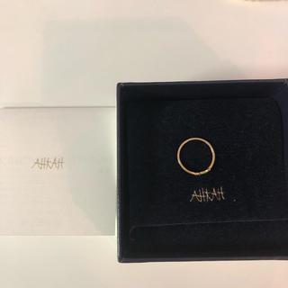 アーカー(AHKAH)のアーカー バタフライパヴェ ピンキーリング 4号(リング(指輪))