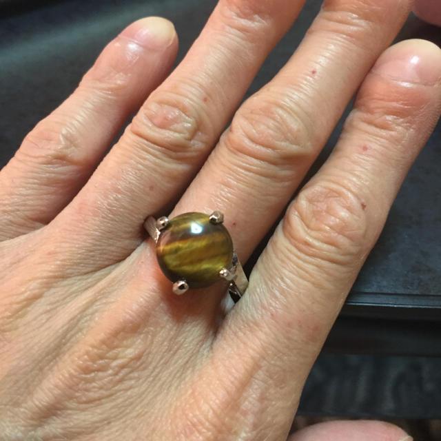 リング #21 タイガーアイ レディースのアクセサリー(リング(指輪))の商品写真