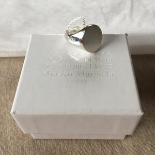 マルタンマルジェラ(Maison Martin Margiela)のM新品 マルジェラ シルバー オーバル シグネット リング 18SS(リング(指輪))