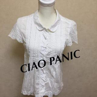 チャオパニック(Ciaopanic)の【夏物SALE】☆CIAO PANIC☆ ブラウス フリーサイズ(シャツ/ブラウス(半袖/袖なし))