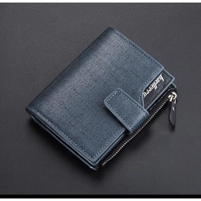 財布 二つ折り 高品質レザー 札 小銭 カード お札入れ ネイビーブラックの通販 by りゅう's shop|ラクマ