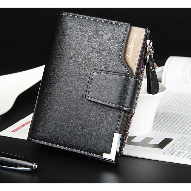 財布 二つ折り 高品質レザー 札 小銭入れ カード 名刺入れ 大容量 ブラックの通販 by りゅう's shop|ラクマ